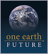 One Earth Future Logo: Globe