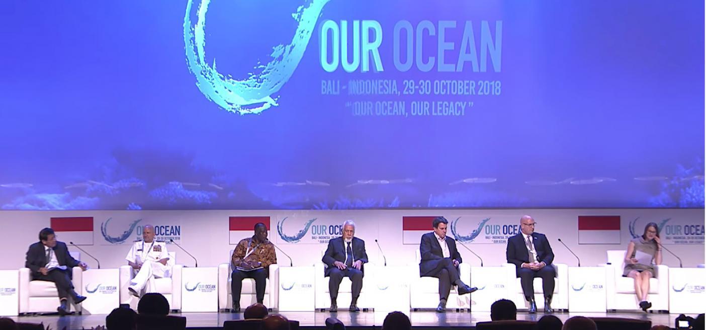 Dr Sarah Glaser speaks at Our Ocean Conference
